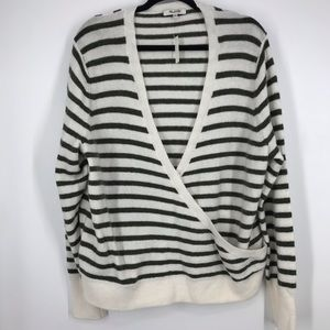 NWT madewell knit sweater green stripes xxl